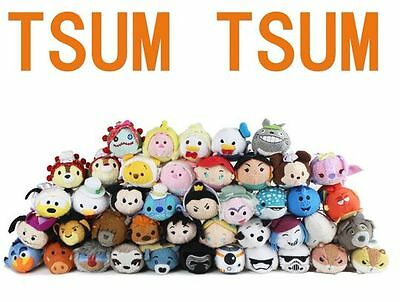 130 Styles Disney TSUM TSUM Tangled Nemo Dory Mermaid Yoda Plush Toys With Chain