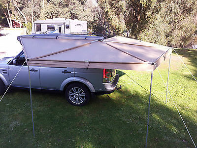 New Wing Awning  2.5 M Long Rip Stop Skywing Batwing Roof Top Tent Fox  Camping