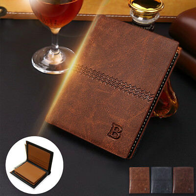 Mens Designer Luxury Soft Quality Leather Bifold Wallet Credit Card Holder Purse