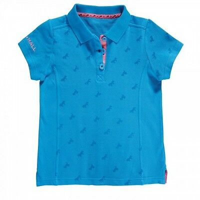 Harry Hall - Junior Barlyby Polo - Kids Equestrian Polo Top - Navy Or Methyl