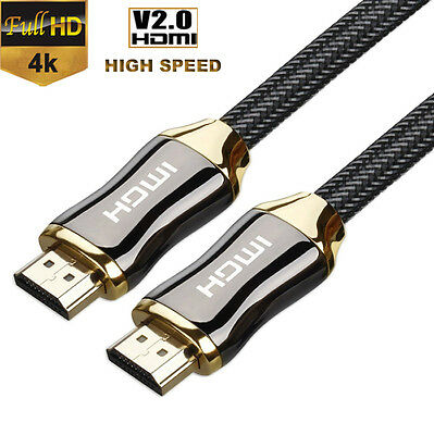 Premium HDMI Cable V2.0 for Bluray DVD PS4 XBOX LCD HDTV 2160P 3D 4K@60Hz Gold