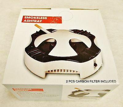 Worlds Best SMOKELESS ASHTRAY  Pre installed Carbon Filters Free Shipping