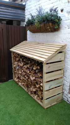 Handmade Large Wooden Log store Treated Timber. Many Sizes Available!
