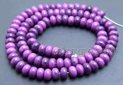 4*6mm Rondelle Natural Purple Sugilite Bead for Jewelry Making Loose Strand 15''