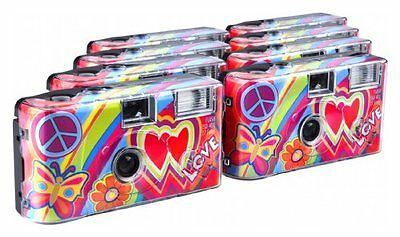 TopShot Love Cult Disposable Camera / 27 Photos / Flash / Pack of 8