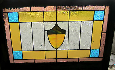 ~ ANTIQUE AMERICAN STAINED GLASS WINDOW ~ 2 of 2 ~ ARCHITECTURAL SALVAGE ~