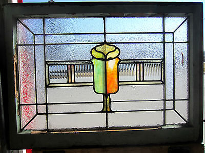 ~ Antique American Stained Glass Window ~  Architectural Salvage ~