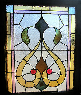 ~ Antique American Stained Glass Window ~ Jewles ~ Architectural Salvage ~