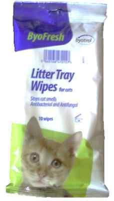 Byofresh Cat Litter Tray Wipes Pack of 10