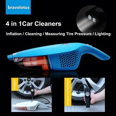12V 4 in 1 Mini Portable Vehicle Wet Dry Auto Charging Handheld Vacuum Cleaner