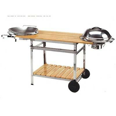 Barbecue wok chariot