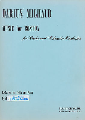 Darius Milhaud - Music for Boston for Violin and Chamber Orchestra