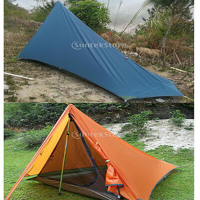 Outdoor Camping Hiking Mountaineering Double-layer Waterproof Tarp Tent Shelter