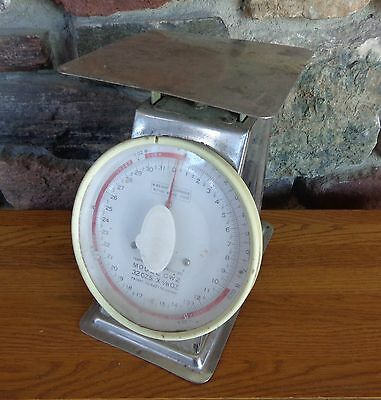 Vintage Used Metro Equipment Stainless Steel Scale Does Work