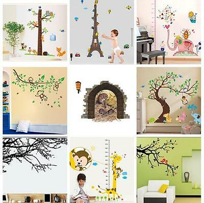 Tree Animal Kids Play Art Wall Decal Decor Room Stickers Vinyl Home Mural Paper