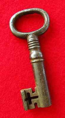 Genuine Strongbox Antique Skeleton Key From London, England - More Old Keys Here
