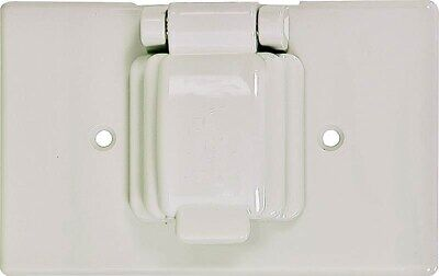 Sgl Receptacle/Switch Cover,No S1961W-SP,  Cooper Wiring Devices Inc, 3PK