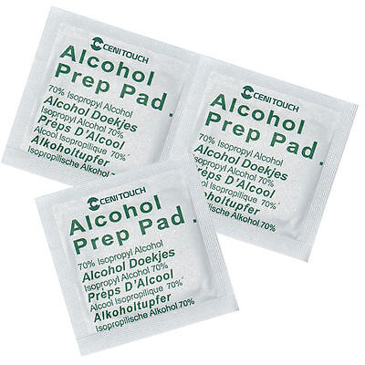 NHS Grade Pre-Injection Swabs Wipe 70% IPA Alcohol Wipes Piercing - Medical