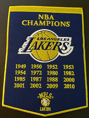 Los Angeles Lakers NBA Champions banner patch - incredible graphics