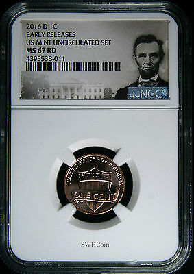 2016-D 1C - Lincoln Shield Cent - NGC MS67 RD - Early Releases!