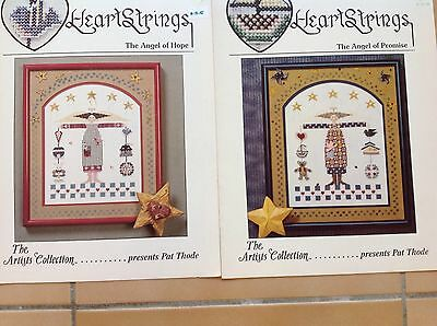 Cross Stitch Pattern X 2  The Angel Of Promise & The Angel Of Hope