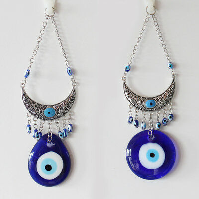 Turkish Evil Eye Glass Charm Metal Home Amulet Decoration Lucky Protector Nazar