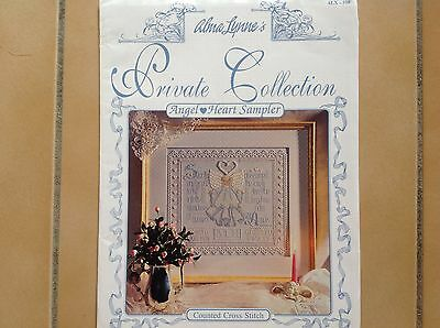 "Cross Stitch Chart.   ""angel Heart Sampler"""