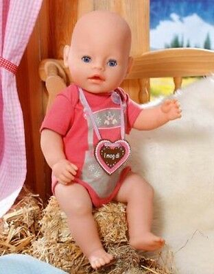 Rose red Jumpsuit +cloth Necklace for 43cm Baby Born zapf Doll clothesb687