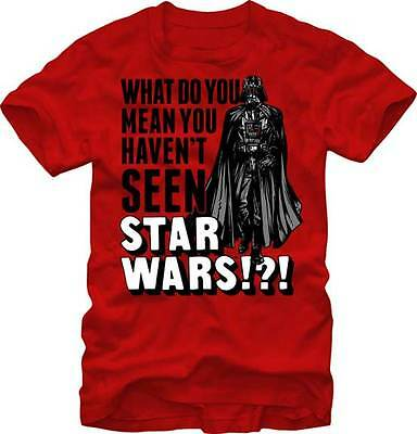 STAR WARS - What Do You Mean You Haven't Seen T-shirt - NEW - SMALL ONLY