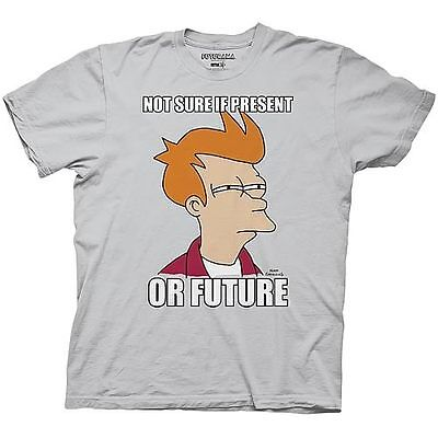 FUTURAMA - Not Sure if Present or Future T-shirt - NEW - XLARGE ONLY