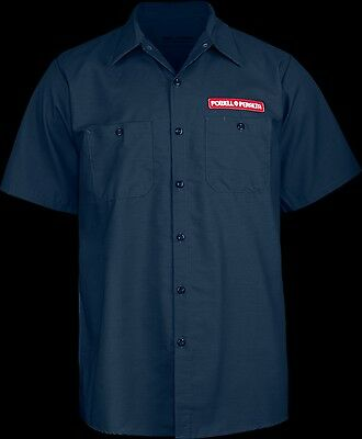 POWELL PERALTA - Winged Ripper Work Shirt (Navy) T-shirt - NEW - SMALL ONLY