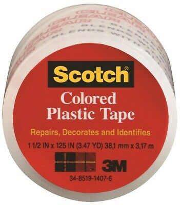 Scotch Colored Plastic Tape,No 191TRANS,  3m Company, 3PK