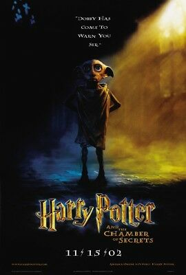 HARRY POTTER CHAMBER OF SECRETS MOVIE POSTER 2 Sided Advance ORIGINAL 27x40