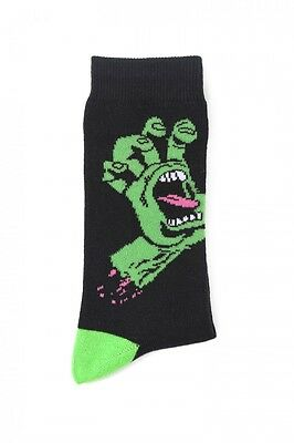 SANTA CRUZ - Screaming Socks Black/Green (2 Pack) - NEW
