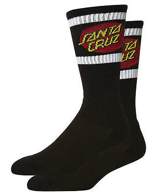 SANTA CRUZ - SC Strip Tall Socks Black/White (2 Pack) - NEW