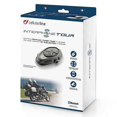 Interphone Tour Single Pack Motorcycle Motorbike Waterproof Intercom for Helmets