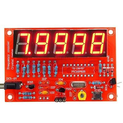 1Hz-50MHz Crystal Oscillator Frequency Counter Meter Digital LED PIC DIY Kits WT