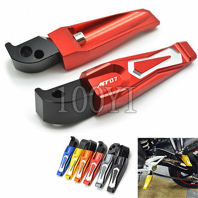 Motorcycle CNC Foot Pegs Rear Seat Foot Pedals For Yamaha MT-07 2014 2015 2016