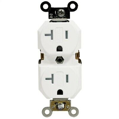 20A Tamper-Resistant Grounded Duplex Outlet,No S02-TBR20-00W,  Leviton Mfg Co