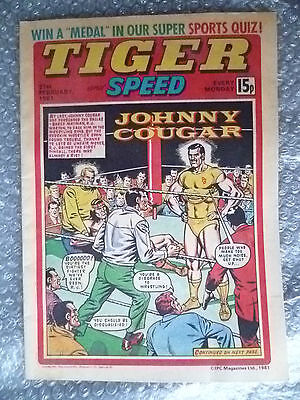 Comic- Tiger and Speed Comic, 21st February 1981; Johnny Cougar........