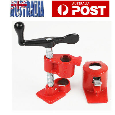 """4 Sets Gluing Pipe Clamp 3/4"""" Woodworking Tube clamp Regular Vice Hand Tools"""