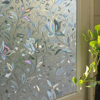 3D Flower Recyclable Frosted Glass Home Window Film Sticker Decorative 45x100cm