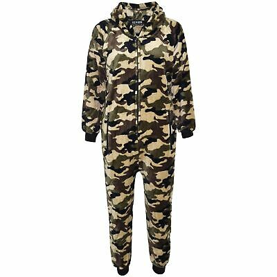 Kids Girls Boys A2Z Onesie One Piece Soft Fluffy Camouflage Halloween Costume