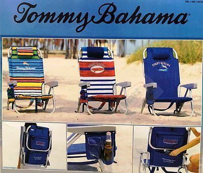 2017 Tommy Bahama Backpack Cooler Chair Storage Pockets Beach Pool Camping Picni
