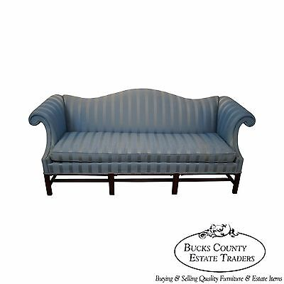 Hickory Chair Solid Mahogany Chippendale Style Sofa