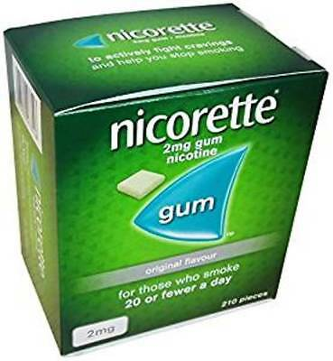 Nicorette Chewing Gum Orginal  210 Pieces - 2mg