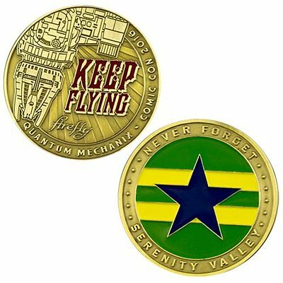 Firefly Serenity Qmx Keep Flying Challenge Coin Replica New In Stock