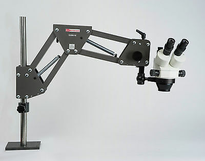 Stereo Microscope,Long Reach Stand,Jewellery/PCB/Inspection - FREE RINGLIGHT