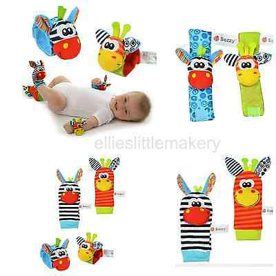Sozzy Baby Infant Rattle Foot Socks and Wrist Toys Animals 0 - 1 Years
