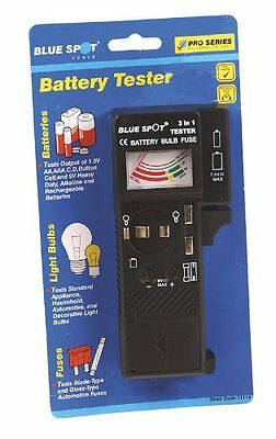 Blue Spot 31114 Battery Bulb and Fuse Tester